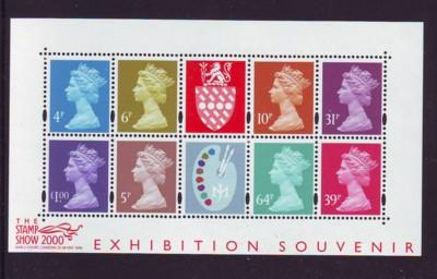 Great Britain Sc MH279a 2000 Stamp Show sheet mint NH