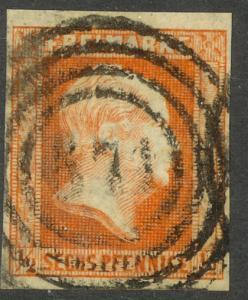 PRUSSIA / GERMAN STATES 1850-56 1/2sg Frederick William IV Sc No. 2 F-VF Used