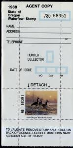 US OR5H OREGON STATE DUCK HUNTER STAMP MNH SCV $14.50 BIN $7.25