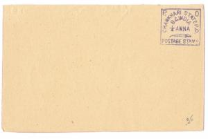India Charkhari Princely State Quarter Anna Unused Early Postal Stationery Card
