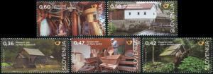 Slovenia. 2016. Mills in Slovenia (MNH OG) Set of 5 stamps