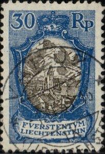 LIECHTENSTEIN - 1925 - Mi.64 very fine used VADUZ 1931 date stamp