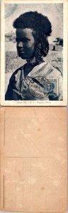 1923 ERITREA SINGLE ON POSTCARD, 1923