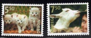 Norway Scott 1316-1317 MNH**  2001 Pet set