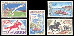 Afars and Issas 1970 Scott #343-347 Mint Never Hinged