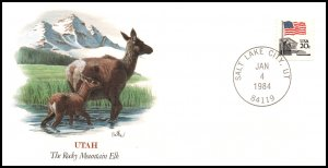 US Rocky Mountain Elk UT 1984 Fleetwood Cover