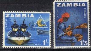 ZAMBIA SC# 11+12  **MNH** 1964  1sh+1sh 3    SEE SCAN
