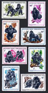 Rwanda MNH 359-66 Gorillas Of The Mountains 1970 SCV 6.55