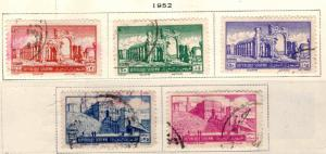 Syria Scott C164-168 Used 1952 Airmail stamp set