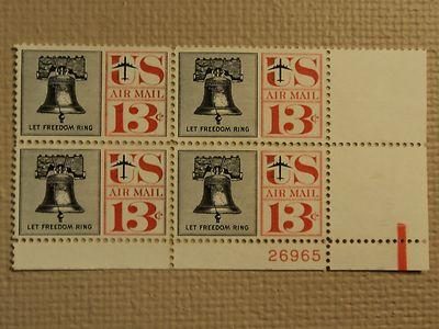 USPS Scott C62 13c Let Freedom Ring Liberty Bell 1961 Min...