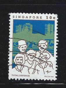Singapore #448b Used Total Defense