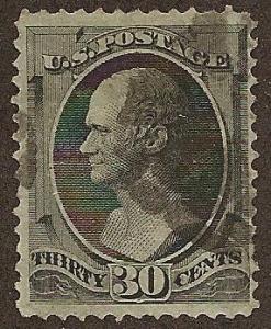 #165 used, 30c. Hamilton, SCV $140