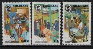 SWAZILAND 571-573, (3) set, Hinged, 1990 UN Development program 40th anniv.