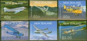 New Zealand 2001 Aircraft set of 6 SG2408-2413 V.F MNH