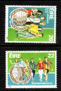 Ireland-Sc#624-5-unused NH set-Imternational Youth Year-1985-