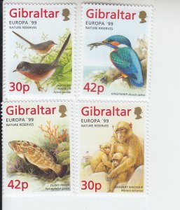 1999 Gibraltar Nature Reserves - Europa (Scott 794-97) MNH