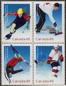 Canada - Hockey 2002 Olympic Games Block mint #1939a