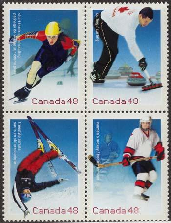 Canada - Hockey 2002 Olympic Games Block mint #1939a