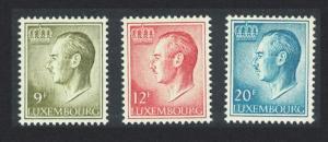 Luxembourg Grand Duke 9f+12F+20F SG#766+767+767d