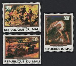Mali 400th Birth Anniversary of Peter Paul Rubens 3v SG#616-618