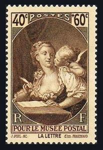 France B92, MNH. The Letter by Jean Honore Fragonard, 1939