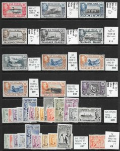 FALKLAND ISLANDS S/SHEET KG6 MINT/USED DEALERS REMAINDERS PRICED TO SELL AT £490