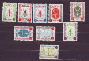 J23650 JLstamps 1963 dubai set mnh #22-7,c13-5 who