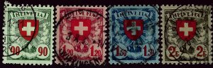 Switzerland #200-203 Used VF hr SC $31.00  ....Chance to buy a real Bargain!