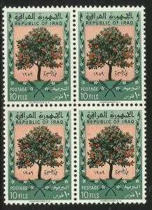 Iraq 1959 Scott# 231 MNH block of 4