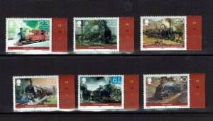 Isle of Man: 2004, Bicentenary of the running of the first steam Loco, MNH set