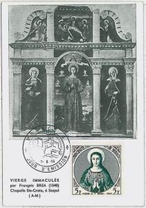MAXIMUM CARD : Art RELIGION painters -  MONACO 1955 : BREA  #2