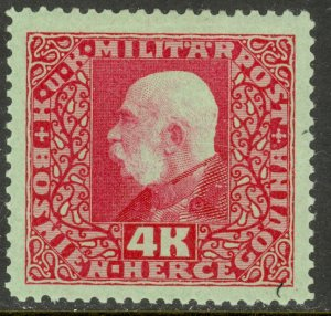 BOSNIA AND HERZEGOVINA 1916-17 4K FRANZ JOSEPH Portrait Issue Sc 103 MH