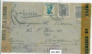 BRAZIL : COVER to SWITZERLAND WITH 3 CENSORSHIP LABLES