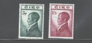 IRELAND 1953 150th ANNIV. EXECUTION R.EMMET #149-150MNH