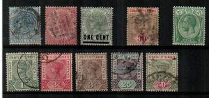 Straits Settlements - small group mostly Used - see description