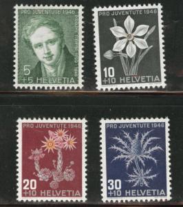 Switzerland Scott B158-161 MH* 1946 semipostal set