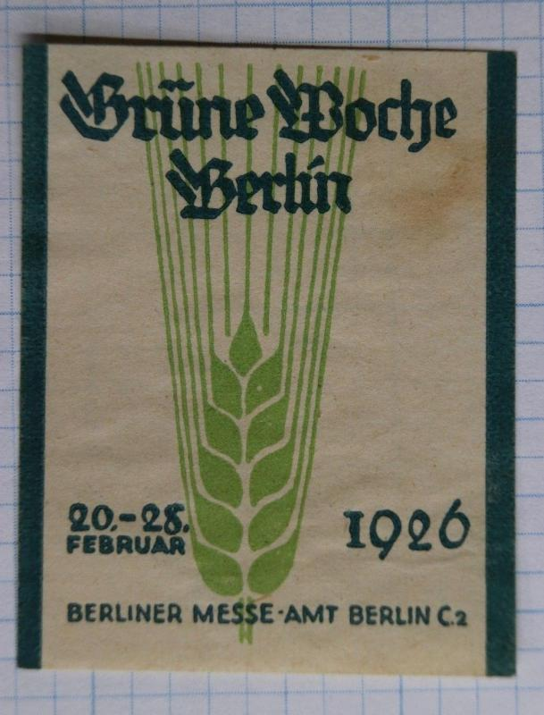 Brune Boche Berline Germany 1926 Berliner Messe Fair expo AMT Poster Stamp ad