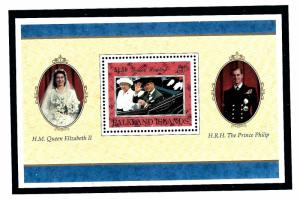 Falkland Is 685 MNH 1997 QEII Golden Wedding Anniversary S/S