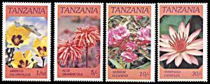Tanzania MNH 315-8 Native Flowers SCV 1.25