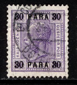 Austria Turkey 1907 Scott #45 no varnish bars, used