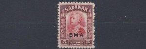SARAWAK  1945  S G 144  $5   SCARLET  & RED BROWN     MNH  CAT £220