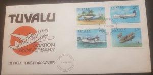 O-r) 1980 TUVALU, PLANE - AIR PACIFIC HERON FIRST REGULAR, AVIATION, HAWKER