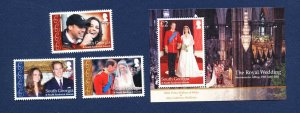 SOUTH GEORGIA - # 426-429 - MNH -  Prince William  & Kate  - 2011