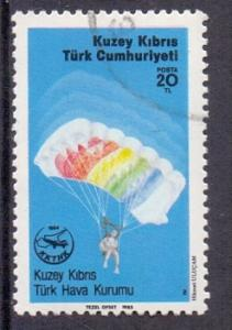 Cyprus  Turkish  1985  used 174  parachitist aviation league   20l  #