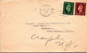 UK > Tudor Manufacturing Newark NJ redirected to Cranford NJ 1938