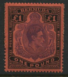 Bermuda KGVI 1951 £1 perf 13 unmounted mint NH