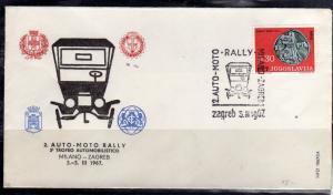 JUGOSLAVIA YUGOSLAVIA 3-5 3 1967 MILANO ZAGREB CARS RALLY AUTO MOTO TROFEO AU...