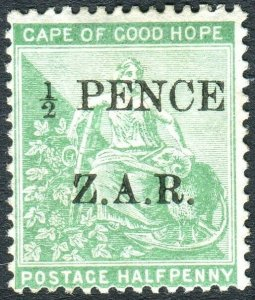 VRYBURG CAPE OF GOOD HOPE-1899 ½d Green.  A mounted mint example Sg 1