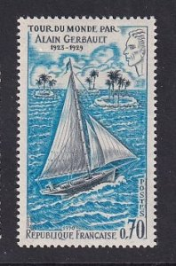 France  #1263  MNH  1970  Firecrest sailing boat trip around the world