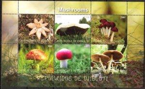 Djibouti 2011 Mushrooms (2) MNH Cinderella !
